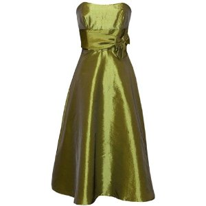 50's Strapless Taffeta Cocktail Dress For Women
