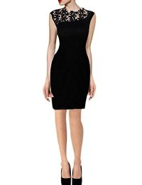 Babyla Women Lace Stretch Clubwear Cocktail Evening Party Bodycon Pencil Dress
