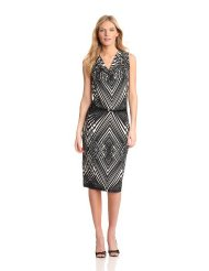 Cocktail Dresses for Women over 50 - Anne Klein Women's Abstract Line Cowl Neck Dress
