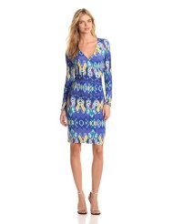 Cocktail Dresses for Women over 50 - Jones New York Women's V Neck Dress
