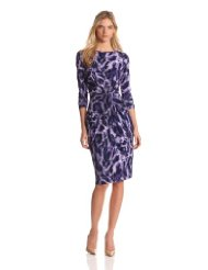 Cocktail Dresses for Women over 50 - Jones New York Women's Long Sleeve Print Dress