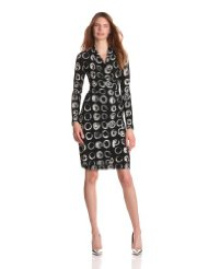 Cocktail Dresses for Women over 50 - KAMALIKULTURE Women's Long Sleeve Side Drape Dress