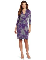 Cocktail Dresses for Women over 50 - Kenneth Cole Women's Tweedy Ikat Print Pleated Dress